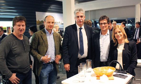 Andreas Ortner, Lukas Frey, Finanzminister Hans-Jörg Schelling, Ernst Joast und Silke Steiner. Foto: VP-Lienz