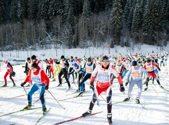 Der Start zum 41. Dolomitenlauf in Obertilliach, Osttirol. Fotos: Expa/Gruber