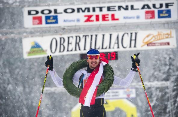 Champion im Classicrace beim Dolomitenlauf in Obertilliach: Eric Thomas aus Deutschland.