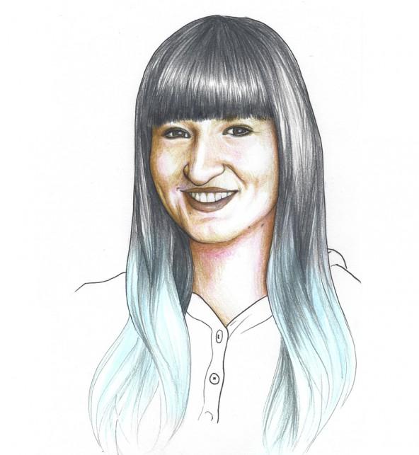 Vedrana Markanovic, porträtiert von Linda Steiner.