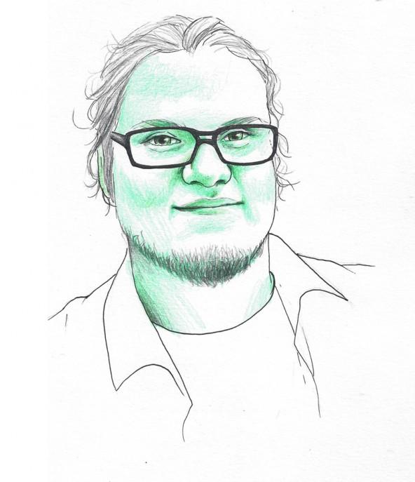 Chris Manucredo, porträtiert von Linda Steiner.