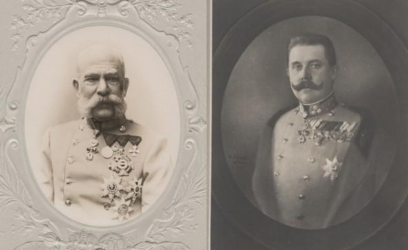 Für Kaiser Franz Josef (links) gab's Bergfeuer zur Begrüßung, Thronfolger Franz ferdinand kam mit dem Automobil. Damals eine Sensation. Fotos: TAP