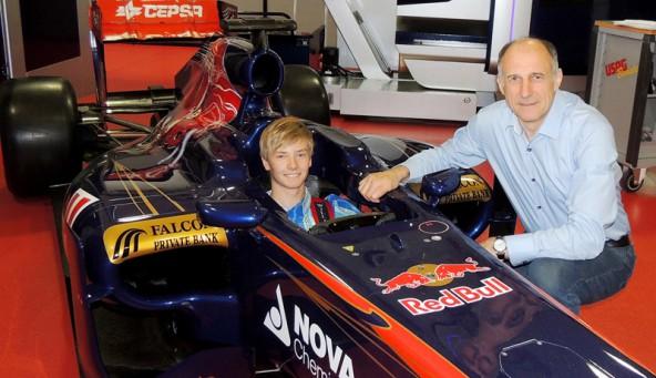 Chris Höher und Toro Rosso Teamchef Franz Tost.