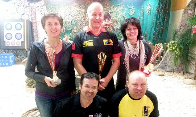 Die Sieger (v.l.):  Hannes Gailer, Alfred Mülburger, Caudia Stojan, Eckhard Libiseller und Barbara Nideregger. (Foto: Walter Aichner)