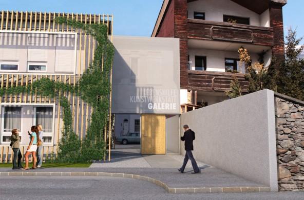 Schon in wenigen Monaten wird die Kunstwerkstatt der Lebenshilfe an der Mühlgasse so aussehen. Visualisierung: Büro Jungmann