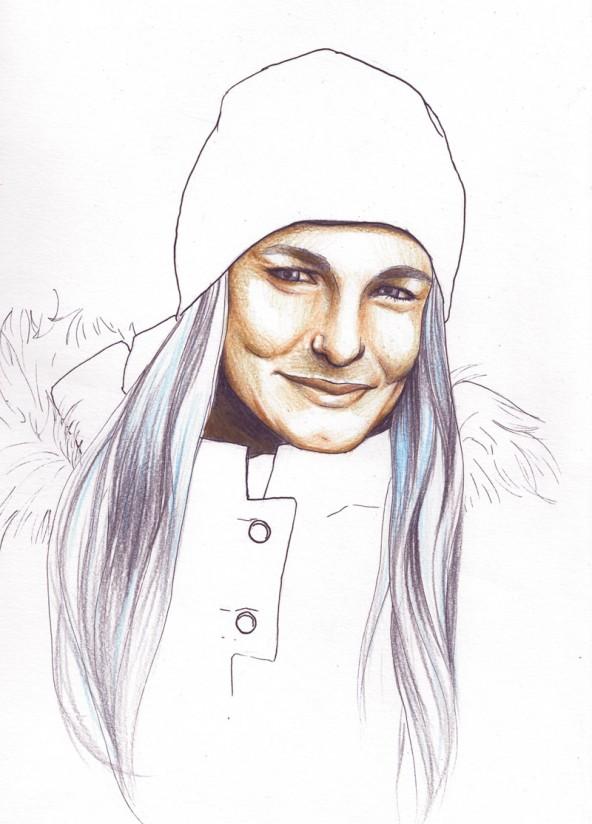 Olivia Höffernig,  porträtiert von Linda Steiner.