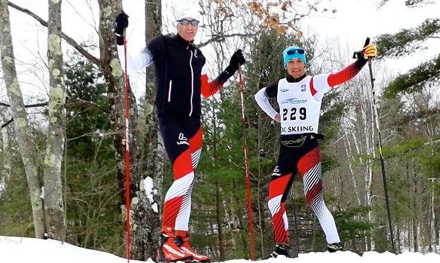 Michael Kurz (rechts) mit seinem Coach Wolfgang Egger.