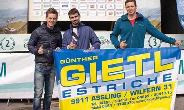 v.l. Hannes Wilhelmer, Jakob Peer, Kollreider Fabio vom Team Powered by Estrich Gietl. Foto: Sandro Kollreider