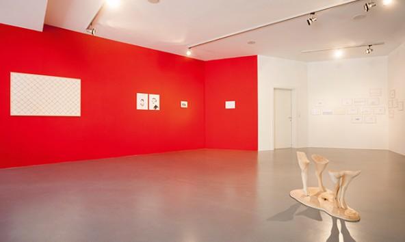 Installationsansicht der Ausstellung: Gabriela Oberkofler, ENTREISSUNGEN. Foto: Martin Lugger