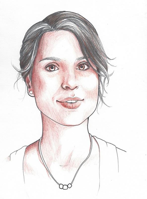 Carmen Korber, porträtiert von Linda Steiner.