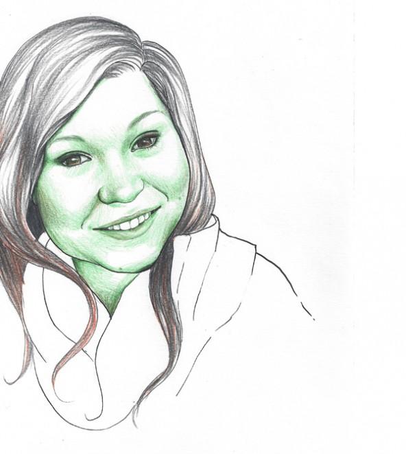 Christina Thonhauser, porträtiert von Linda Steiner.