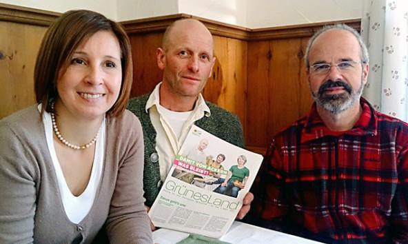 """""""Wir müssen eine Entflechtung der Landwirtschaftskammer und des Bauernbundes schaffen"""". Von links: Gabi Fischer, Bartholomä Obwaller und Thomas Haidenberger."""