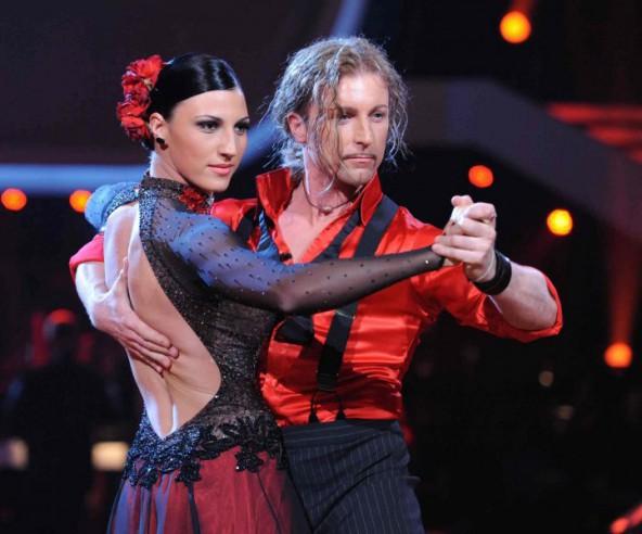 """Mit Schwimmerin Mirna Jukic (hier bei  einem Tango) tanzte Gerhard Egger 2011 bis zur achten Sendung von """"Dancing Stars"""". Fotos: www.gerhardegger.at"""