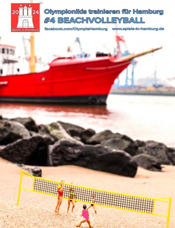 Beachvolleyball an der Elbe. Es war ein unfassbarer Sommer. Daher hat sich Hamburg als toller Trainingsort anscheinend auch schon bei den Olympionikis rumgesprochen. Foto: Kathrin Beyer