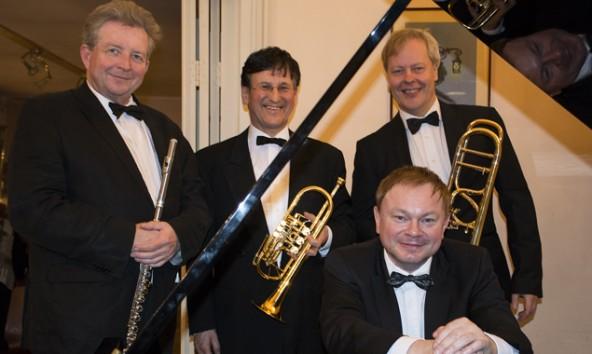 Rudolf Gindlhumer – Flöte, Konrad Monsberger – Trompete, Markus Pichler – Posaune und Karl Eichinger – Klavier