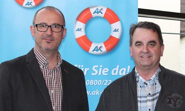 Wilfried Kollreider, Leiter der AK Lienz, und Vizebürgermeister Meinhard Pargger. Foto: AK Tirol