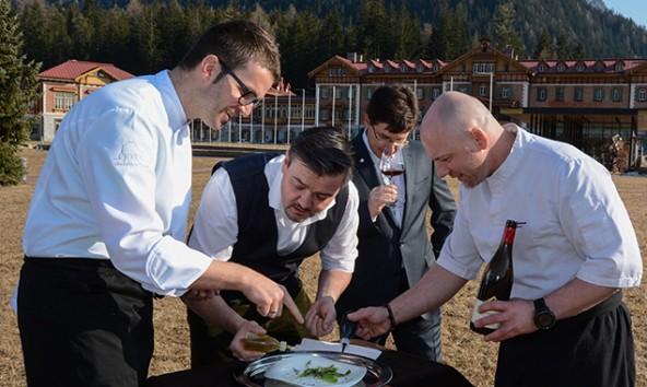 Die vier Vereinsmitglieder verbindet neben der Leidenschaft für ihren Beruf der Sinn für das Tun, anstatt nur zu reden. Foto: Culinaris Tirolensis