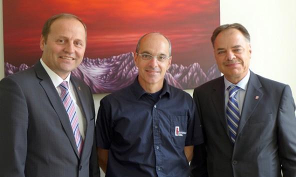 Sicherheitsreferent LHStv Josef Geisler, Bernd Noggler und Aufsichtsratsvorsitzender Herbert Walter.