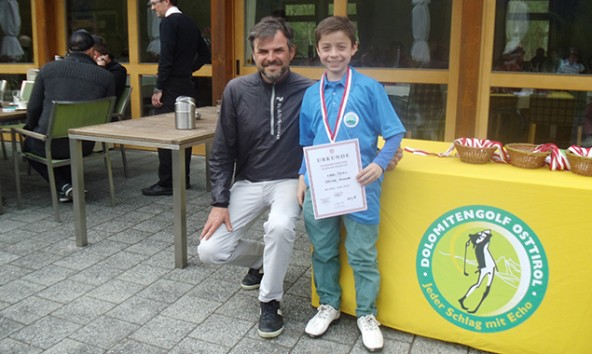 Ranger GC Dolomitengolf Ralf Reiter mit Alexander Opetnik (Sieger U10 männlich)