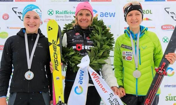 Anna Pircher gewinnt vor Susanne Mair und Viola Biberacher.