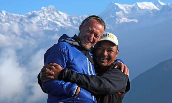 v.l.: Herbert Mayerhofer und Lakpa Dorje Sherpa