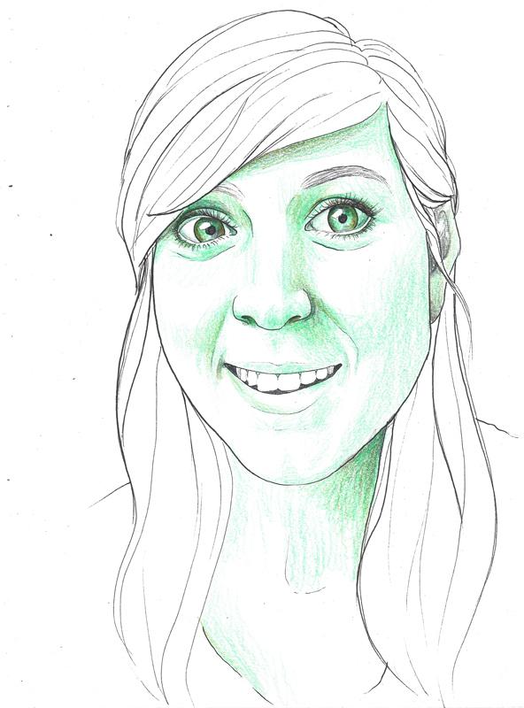 Georgia Eder, porträtiert von Linda Steiner
