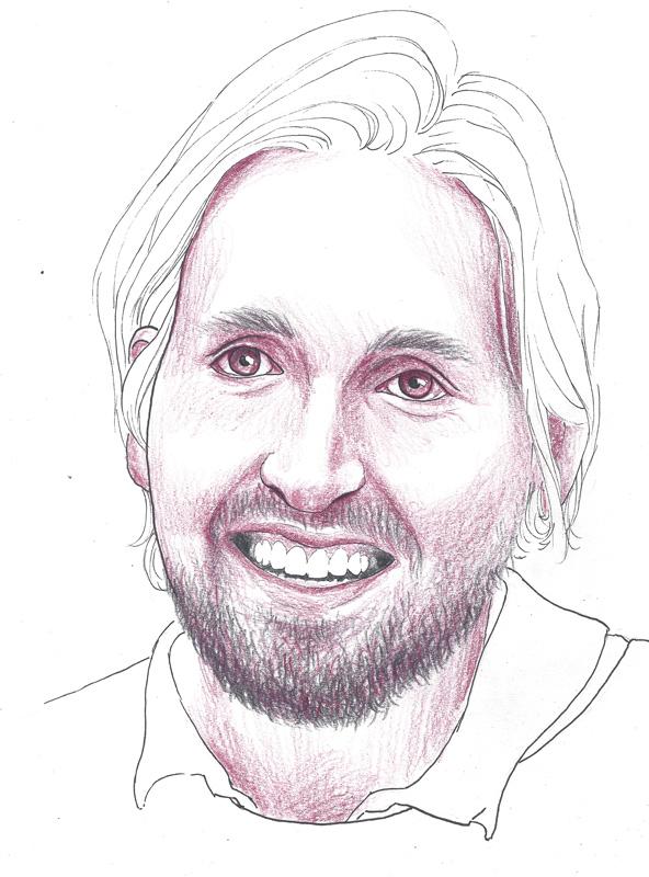 Paul Zinell, porträtiert von Linda Steiner.