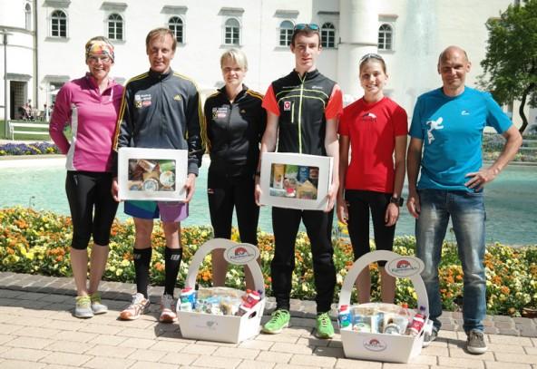 Erfolgreich beim Porcialauf Spittal - von links: Irmgard Huber, Hermann und Andrea Oberbichler, Michael Singer, Theresa Moser, Günther Obereder.