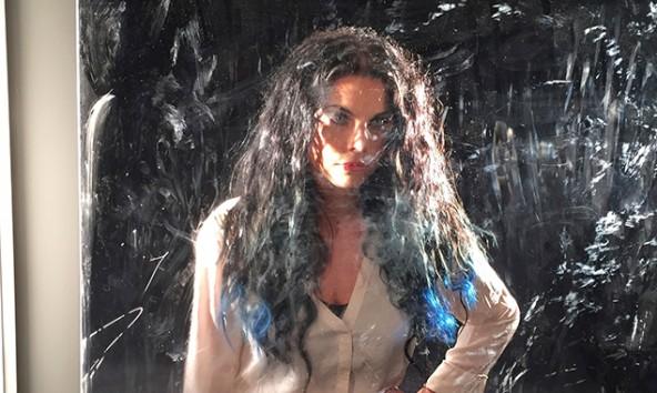 Sara Koell bei den Dreharbeiten für ihr neues Video. Foto: Harald Fahrngruber