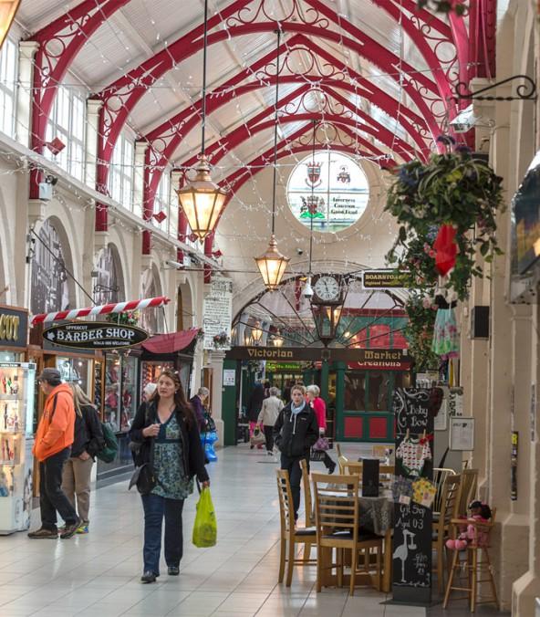 Im Victorian Market lässt es sich wunderbar shoppen.