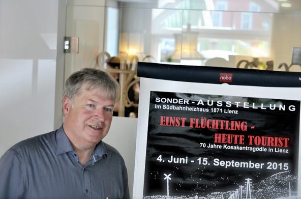 Harald Stadler wird nicht müde, an das Schicksal der Kosaken in Lienz zu erinnern und die Ereignisse des Jahres zu erforschen. Fotos: Dolomitenstadt/Pirkner