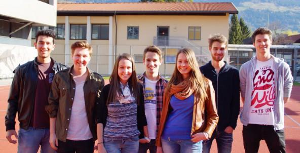 Sie organisieren den Stadtlauf (v.l.): Alim Yürekli, Florian Eder, Sarah Thaler, Alexander Schneider, Victoria Gailer, Maximilian Hoy, Patrick Bergmeister.