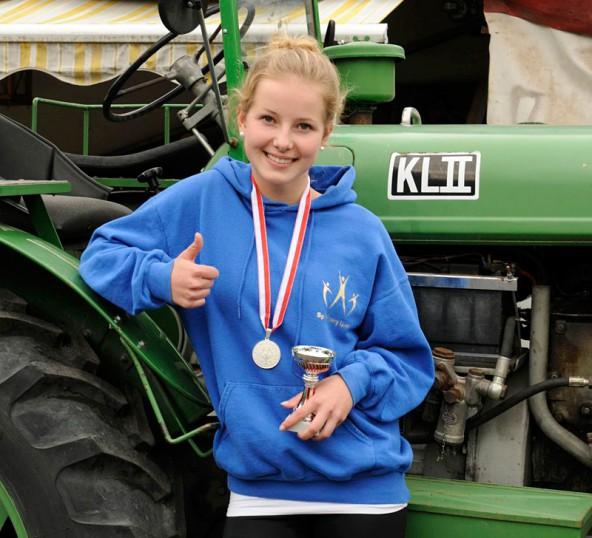 Als Vize-Landesmeisterin bringt Tanja Oberegger wieder eine Medaille nach Hause.