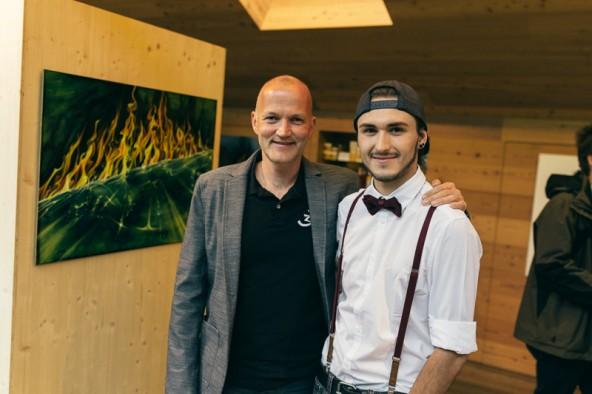 Die Künstler: Josef Zangerl (links) und Lukas Lukasser.