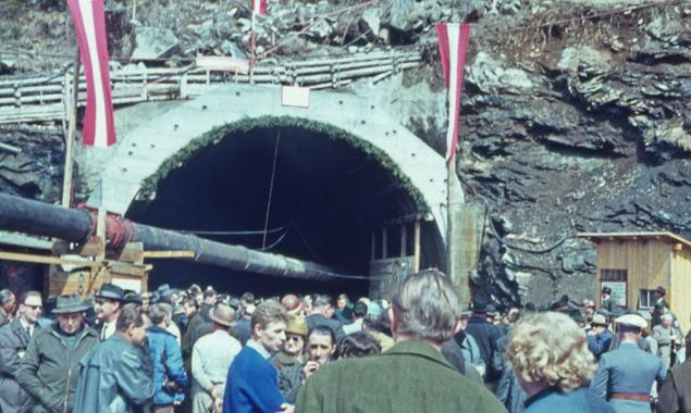 Felbertauerntunnel-Durchstichfeier, 11. April 1964. Foto: Erna Doblander/Sammlung Doblander – TAP