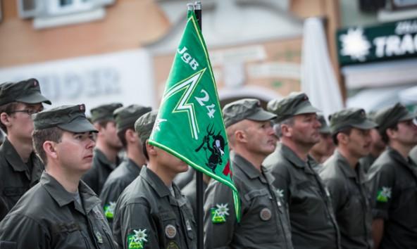 Die Rekruten des Jägerbataillons 24 wurden für ihre Disziplin, Leistungsfähigkeit und ihr Durchhaltevermögen gelobt. Fotos: Brunner Images