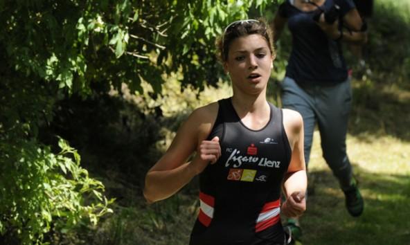 Lea Amort steckte alle Anstrengungen weg und erreichte den zweiten Platz beim Crosstriathlon.