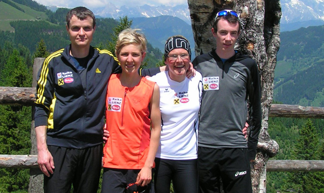 Das erfolgreiche Osttiroler Berglaufteam, v.l.: Ingemar Wibmer, Susanne Mair, Irmgard Huber und Michael Singer. Foto: SUR Lienz Singer