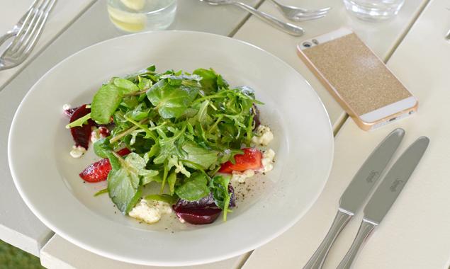 Schon die Zubereitung eines bunten Salates kann Freude bereiten – auch den Augen.