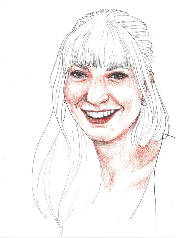 Martina Veider, porträtiert von Linda Steiner.