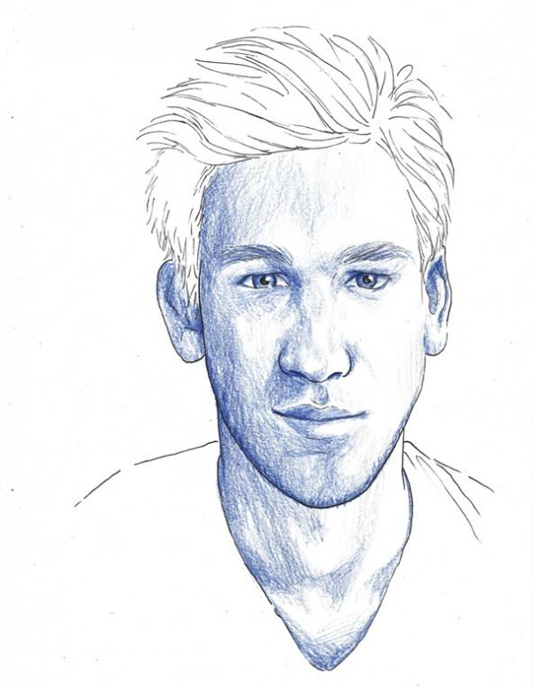 Stefan Karré, porträtiert von Linda Steiner.