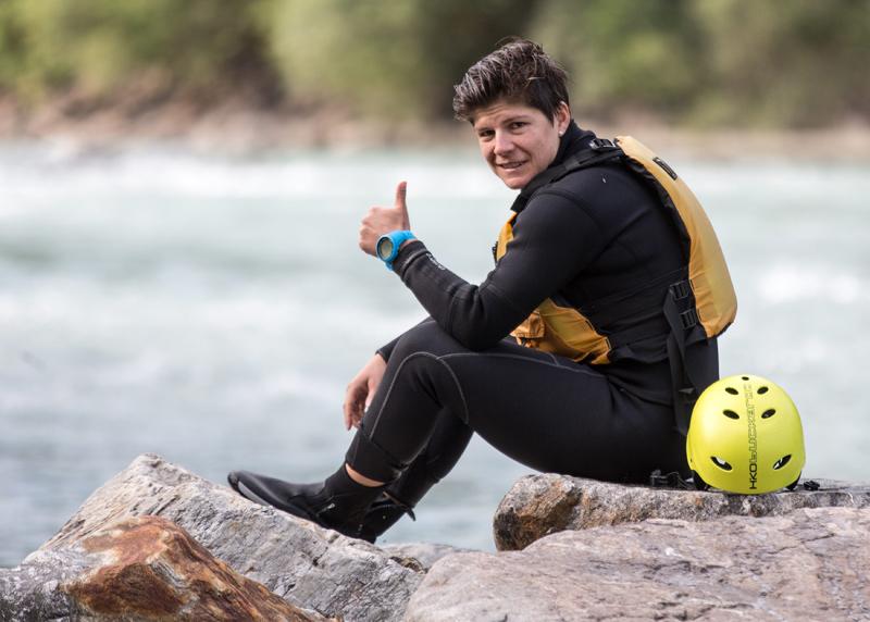 Die ungarische Skiläuferin Edit Miklos genoss die Ruhe und die Fluten.