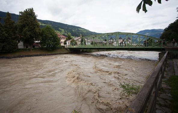 So sieht ein HQ5 aus, ein Hochwasser, wie es im Schnitt alle fünf Jahre vorkommt. Bei einem HQ100 fließt doppelt so viel Wasser!