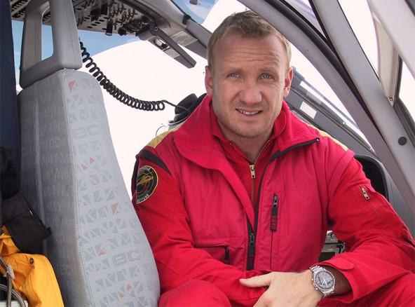 """Heli-Pilot Klaus Rainer vom C7-Team: """"Was heute passiert ist, ist ein typischer, kombinierter Glocknereinsatz."""""""