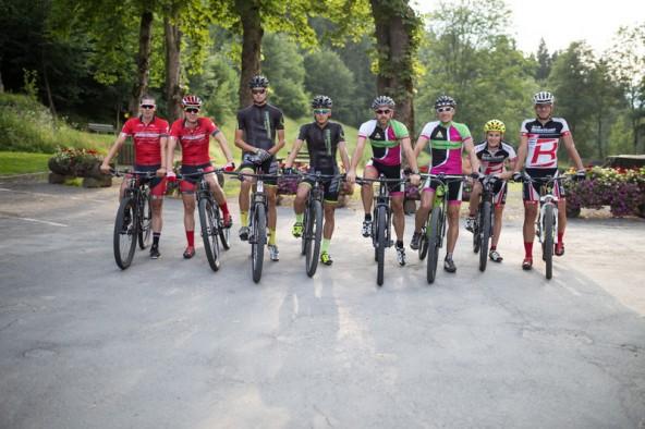 Die vier Zweierteams aus Osttirol nehmen am Sonntag die Bike Transalp in Angriff. Von links: