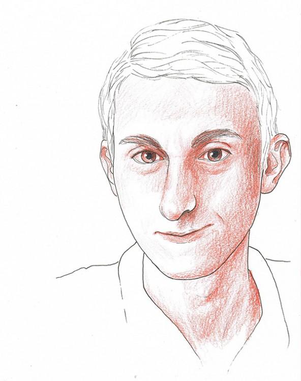 Daniel Wurnitsch, porträtiert von Linda Steiner.