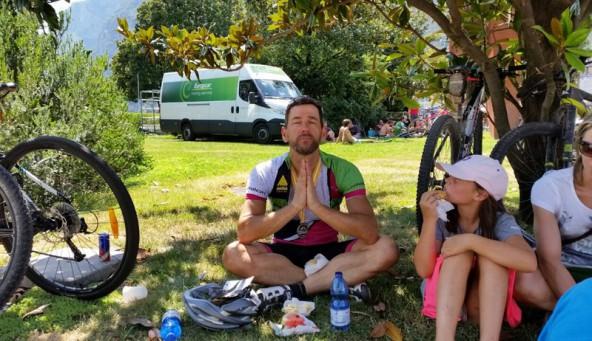 Franz Fröschl betet um eine achte Etappe. Er hat noch immer nicht genug vom Radeln.
