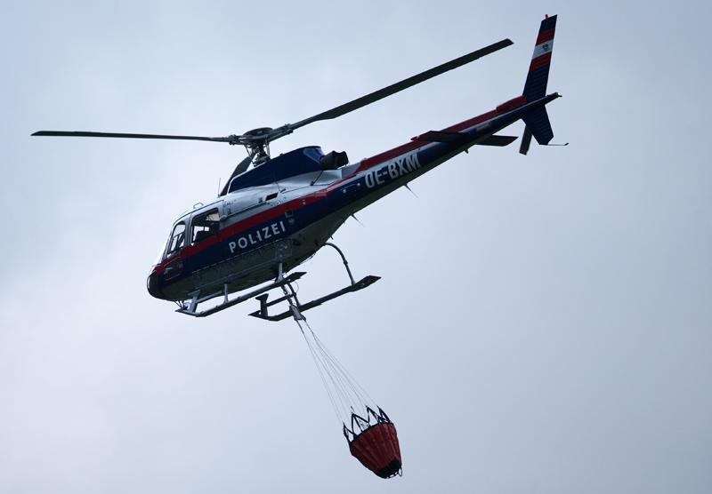Matrei forderte den Hubschrauber des Innenministeriums an. Fotos: EXPA/Johann Groder