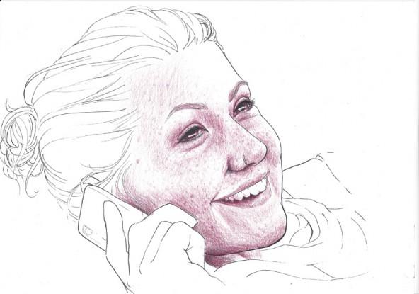 Laura Lienharter, porträtiert von Linda Steiner.