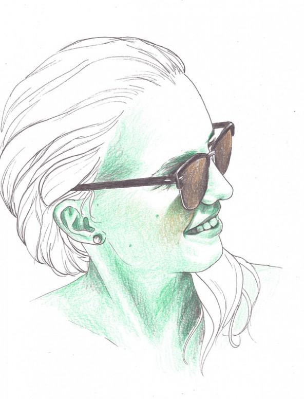 Mara Neumayr, porträtiert von Linda Steiner.